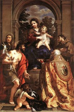 Pietro Berrettini da Cortona, Madonna and Child with Saints, 1628