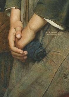Arte in Sublime Details di Catherine La Rose: Émile-Auguste Hublin (1830-1891) ~ Le Chemin du Marché 1878 ✿