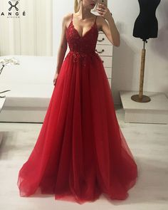 ro Source by jildanger - Prom Dresses With Pockets, Cute Prom Dresses, Red Wedding Dresses, Grad Dresses, Dance Dresses, Ball Dresses, Elegant Dresses, Pretty Dresses, Homecoming Dresses