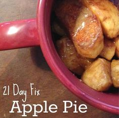 Apple Pie - Follows the 21 Day Fix portions/containers - Great for those doing 21DF, 21DFX, Cize and Max:30! | Visit www.facebook.com/richelle.zirkle or fit2btiedlife.com so we can connect! ♥