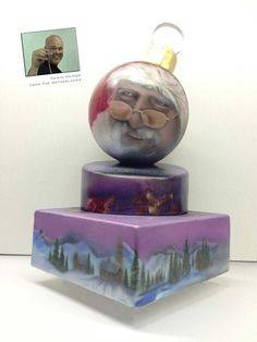 Christmas cake, Airbrushed by Edwin Weimer. Trucolor Natural colors.