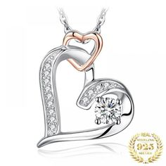 Woman 925 Sterling Silver Infinity Heart Pendant $ 9.95 & FREE Shipping #jewelry #watches #necklaces #pendants #wedding #bridaljewelry #jewelry #jewelrynothers #jewelrylover #jewelryforsale Infinity Heart, Infinity Necklace, Silver Pendant Necklace, Silver Necklaces, Sterling Silver Pendants, Ring Necklace, Bracelet, Great Gifts For Wife, Armband