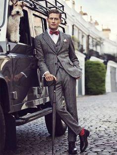 Grey plaid men suit #plaidsuit #mensuit #greysuit #plaidmensuit