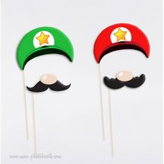 Jeu Video Photobooth Accessoires Mario Bros., Super Mario, Luigi, Accessoires Photobooth, Photo Booth, Animation, Birthday, Diy, Wedding