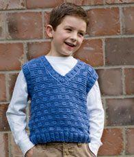 boy's v-neck vest