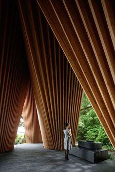 Sayama Forest Chapel by Hiroshi Nakamura & NAP   Yellowtrace