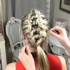 The Four Strand Knot Braid ❤️ By:@sweethearts_hair_design