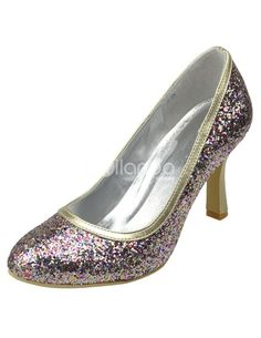 Multi-Color Glitter Strappy Synthetic Bridal Wedding Shoes. See More Bridal Shoes at http://www.ourgreatshop.com/Bridal-Shoes-C919.aspx