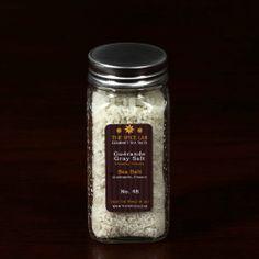 "4 Oz Spice Jar - French Gray Sea Salt - Light Grey (Coarse) - ""Sel Gris De Guérande"" French Sea Salt - Imported by TheSpiceLab Inc. - http://spicegrinder.biz/4-oz-spice-jar-french-gray-sea-salt-light-grey-coarse-sel-gris-de-guerande-french-sea-salt-imported-by-thespicelab-inc/"