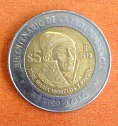 José María Morelos, moneda del bicentenario México