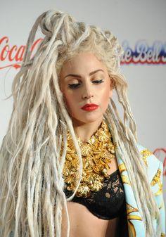 Lady Gaga sports dread locks!