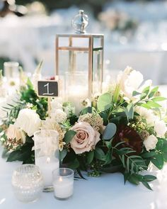 Beautiful wedding floral centerpiece #weddings #centerpieces #rusticwedding