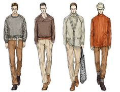 Fashion Illustrator Mengjie Di: Commission from StyleSight Trend ForeCasting Menswear Illustrations ( Photoshop Rendering)