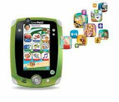 LeapFrog LeapPad2 Explorer Tablet. This handheld gaming console delivers fast-paced action and effective learning systems for the ultimate gaming and learning experience for your little one. Kids tilt, turn and shake the console and bring the games to life, or use the touch screen to control the action. The built-in front and back cameras and video recorders let you snap pictures and edit them as you go.