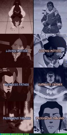 Zuko and Tarrlok Parallels. I think Tarlock is what would have happened if Zuko had grown up without Iroh and Team Avatar.