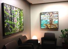 Office lobby, artwork by Grant Morden. Ottawa artist, Canadian artist, landscape painter.