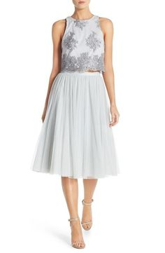The Lena Dunham bridesmaid dress: http://www.stylemepretty.com/2016/03/17/taylor-swifts-squad-styled-as-her-future-bridesmaids/: