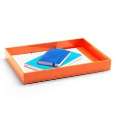Orange Large Accessory Tray,Orange