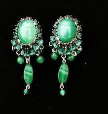 green haute couture jewelry by BaroQco