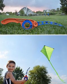 Get your kite airborne with the press of a button, and cleanly reel it back in just like you're fishing. No more running into the wind. No more burns from the string unraveling against your palms. And no more knotted up string, either.