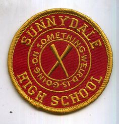 Buffy the Vampire Slayer Sunnydale High School iron-on fan patch