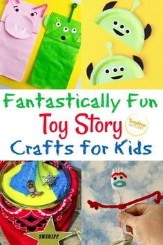 If you are looking for amazing Toy Story crafts for your kids, you came to the right place. These are the crafts for you! These fun Toy Story crafts for kids are awesome! They are also a great way to celebrate anything Disney! Use these crafts as companions to the movies, a party, or just a fun activity. Your kids will love them! #ToyStory #Disney #craftsforkids #kidscrafts #easycrafts Fun Activities To Do, Easy Crafts For Kids, Toddler Crafts, Crafts To Do, Projects For Kids, Diy For Kids, Kid Crafts, Simple Crafts, Literacy Activities