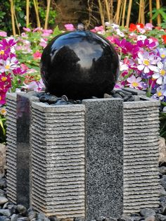 Complete solid granite patio water feature. Includes, solar pump, pipe, river stones. Fill with water and enjoy - no digging required. 300mm x 300mm x 450mm (wxdxh).