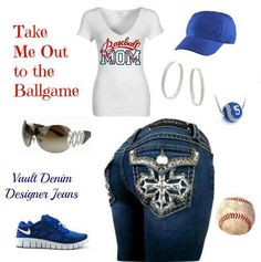 Love this casual, sporty look!  Baseball mom!