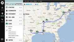 Roadtrippers help you plan your road trip by giving directions, allowing you to find attractions and other cool things along the way.