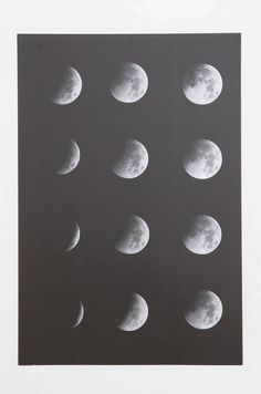 Moon Phase Poster - Urban Outfitters (put it inside ikea frame and cover a wall in big posters)