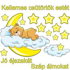 Wall Stickers for baby bear in the clouds and moon yellow. For decorating baby room with yellow tones. Baby Applique, Baby Embroidery, Cartoon Drawings, Cute Drawings, Scrapbooking Image, Crown Drawing, Share Pictures, Animated Gifs, Bear Graphic