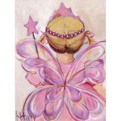 Oopsy Daisy - Little Fairy Princess - Blonde Canvas Wall Art 10x14, Kristina Bass Bailey