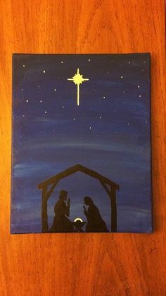 christmas paintings 31 Super Ideas painting ideas on canvas winter canvases Acrylic Painting Canvas, Canvas Art, Nativity Painting, Christmas Paintings On Canvas, Winter Painting, Family Painting, Christmas Art, Xmas, Christmas Cookies