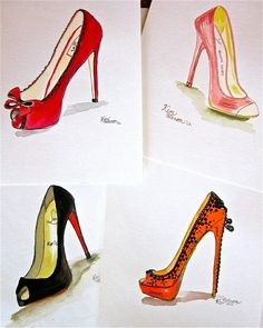 Fashion illustration:Louboutin Spring- 2012