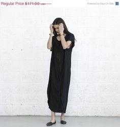 Big summer Sale Summer Kaftan Dress Black. by naftul on Etsy, $128.25