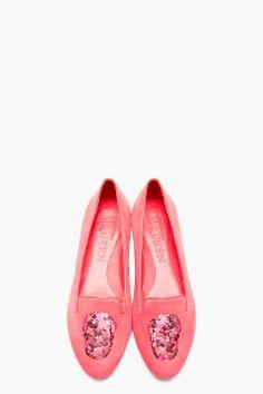 ALEXANDER MCQUEEN Pink Suede Loafers
