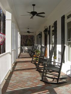 Front Porch Designs for a Traditional Porch with a Window Shutters and Front Porches by John Marshall Custom Homes House Design, Porch Flooring, Front Porch Design, Decor, Front Porch Decorating, House, Home, Custom Homes, House Exterior
