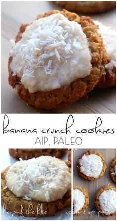Frosted Banana Crunch AIP Cookies (AIP, Paleo) - guest post from Gabriella of Beyond the Bite | Cook It Up Paleo