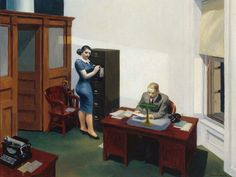 Hopper Office at Night 1940.   HOPPER  