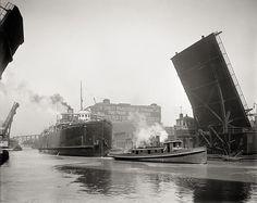 State Street Bridge, Chicago, c1905, Vintage Photo