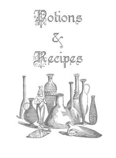 potions and recipes title page~ https://www.facebook.com/thesoulfuleclectic