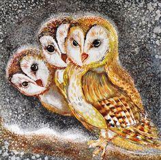 'Three Owls' by Stela Doneva