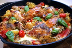 Italian chicken bake with herb vinaigrette