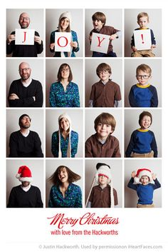 Justin Hackworth's family photo-booth Christmas card really captures the joy of the season!  #Christmas #photos