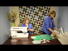 In this Quilting Quickly tutorial, the Fons & Porter staff show you how to put together the quilt blocks in Batik Pinwheels, which call for 8-at-a-time trian...