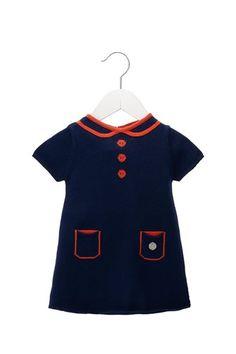 Little Marc Jacobs Knit Dress w/ Round Collar