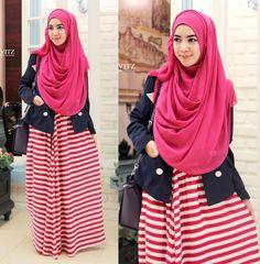 Syar'i pink....feel so blushing :D Kivitz #hijab #hijabfashion