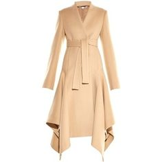 Stella McCartney Claudine asymmetric-hem wool-blend coat