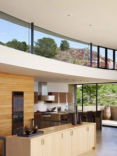 Studio Sagan Piechota Architecture completed the Otter Cove Residence, a meandering home perched on a cliff, overlooking the ocean in Carmel, California