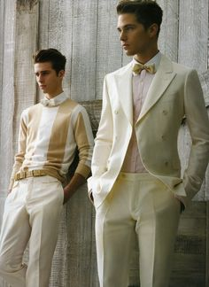 50 Beautiful Great Gatsby Wedding Inspiration - Beauty of Wedding Gentleman Mode, Gentleman Style, Sharp Dressed Man, Well Dressed Men, Fashion Moda, Look Fashion, Fall Fashion, Costume Blanc, Bcbg